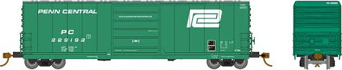 Rapido 139001-C HO Scale - Evans X72A Box car: Penn Central Large Logo - Single Car #229235