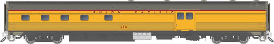 Rapido 114045 HO Scale - Budd Baggage-Dorm - Union Pacific #6007