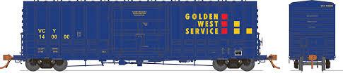 Rapido 137004-C HO Scale - B-100-40 Boxcar: Golden West - Ventura County - Single Car #140008