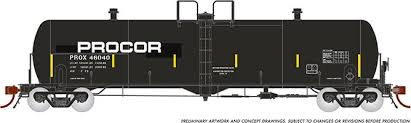 Rapido 135006-C HO Scale - Procor GP20 20K Gal Tank Car: PROX Modern w/ Large Logo - Single Car #46054