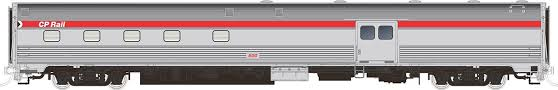Rapido 114009 HO Scale - Budd Baggage-Dorm Action Red Scheme - CP Rail #612