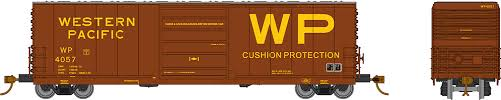 Rapido 139007-B HO Scale - Evans X72A Box car: Western Pacific - Single Car #4053