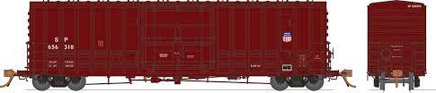 Rapido 137008-C HO Scale - B-100-40 Boxcar: SP/UP Shield Repaint - Single Car #656319