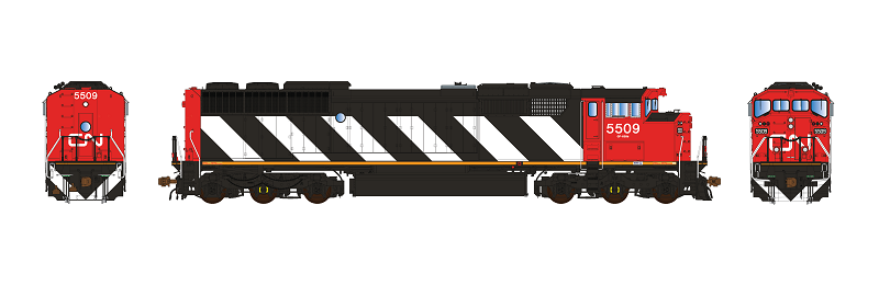 Aurora Miniatures Inc HD1N02B HO - GMD SD60F Diesel - DC/Silent - CN (Stripes-As Delivered) #5535