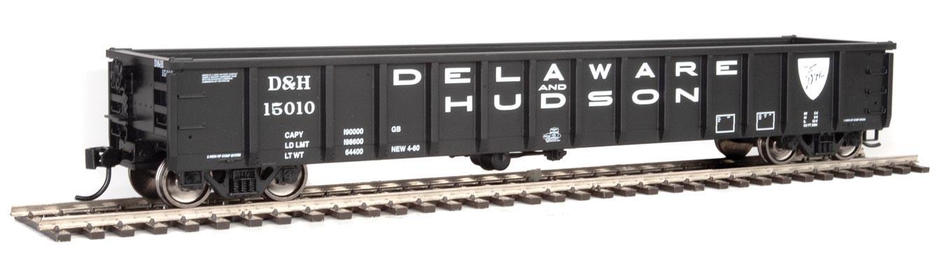 Walthers 6211 HO Scale - 53Ft Railgon Gondola - Ready To Run - Delaware & Hudson #15010