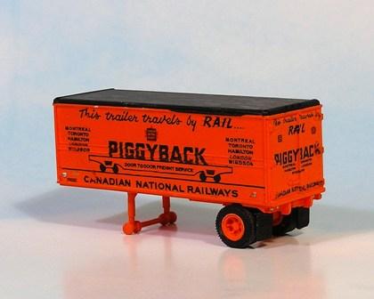 Sylvan Scale Models 011 HO Scale - CN Piggyback Trailer - Unpainted and Resin Cast Kit