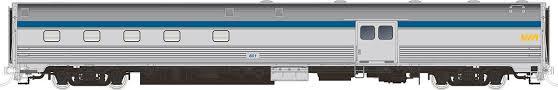 Rapido 114011 HO Scale - Budd Baggage-Dorm Original Scheme - VIA Rail #601