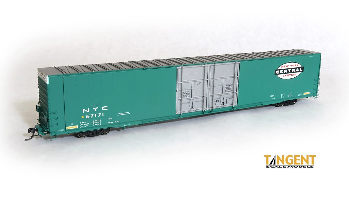 Tangent Scale Models 25013-03 HO Scale - Greenville 86Ft Double Plug Door Box Car - NYC 962-B #67171