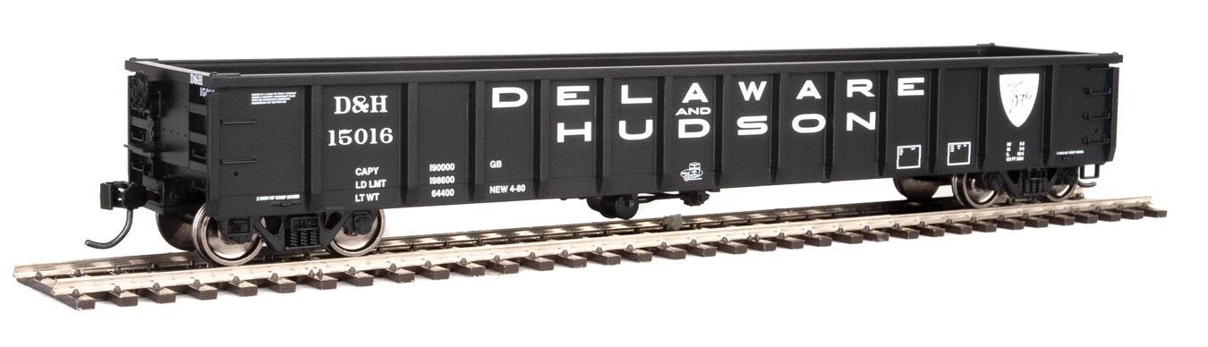 Walthers 6212 HO Scale - 53Ft Railgon Gondola - Ready To Run - Delaware & Hudson #15016