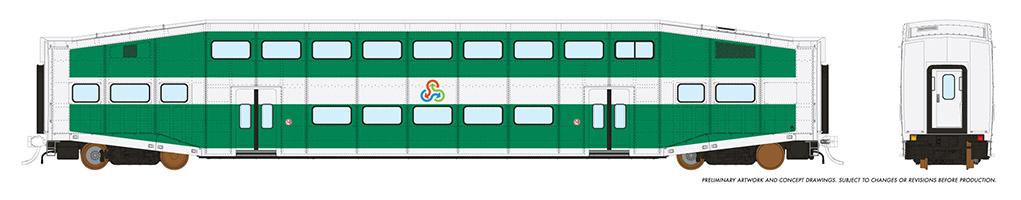 Rapido 146017 HO - Single BiLevel Commuter Car - TriRail - Unnumbered