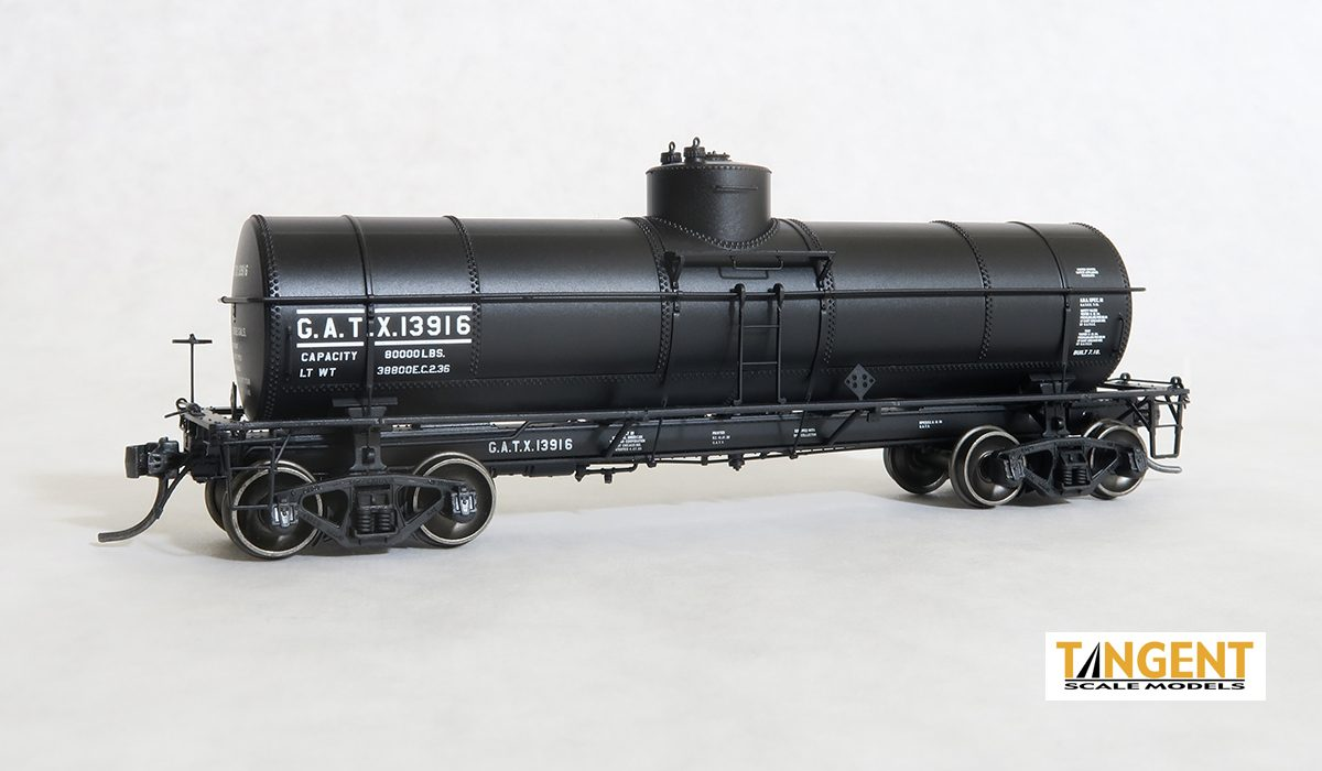 Tangent Scale Models 19018-03 HO - GATC 1917-design 8000 Gallon Tank Car - GATX 1936+ Lease #13916