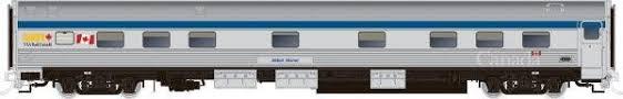 Rapido 119024 HO Scale - Budd Manor Sleeper Canada Scheme - VIA Rail, Dawson Manor #10319