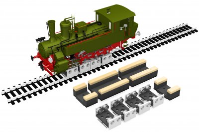 Bachmann 39023 HO - Rollers and Drive Wheel Cleaners