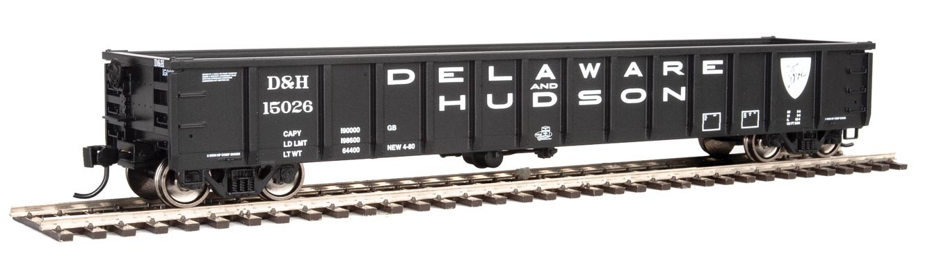 Walthers 6210 HO Scale - 53Ft Railgon Gondola - Ready To Run - Delaware & Hudson #15026