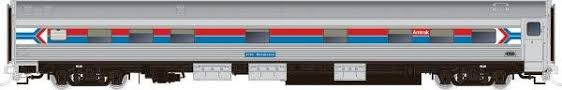 Rapido 119032 HO Scale - Budd Manor Sleeper - Amtrak Phase 1, Silver Orchid #2154