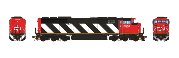 Aurora Miniatures Inc HD1N09D HO - GMD SD60F Diesel - DCC/Sound - CN (Stripes-In Service) #5555