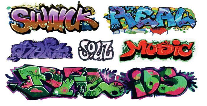 T2 Decals HOGRAF041 - HO Graffiti Decals - Set #41