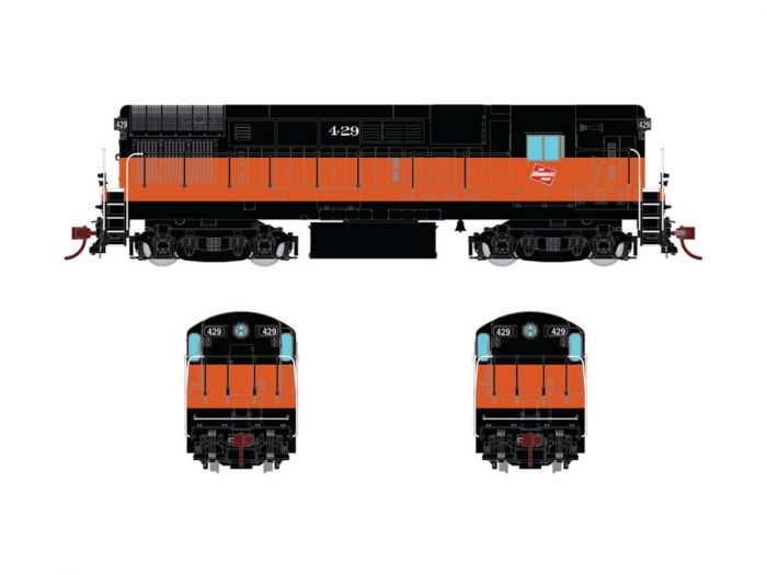 Rapido 044508 HO FM H16.44, With Sound & DCC, Milwaukee Road Orange & Black Scheme No.436