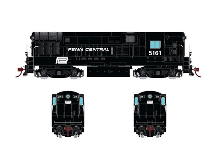 Rapido 044519 HO FM H16.44, With Sound & DCC, Penn Central Black Scheme No.5166