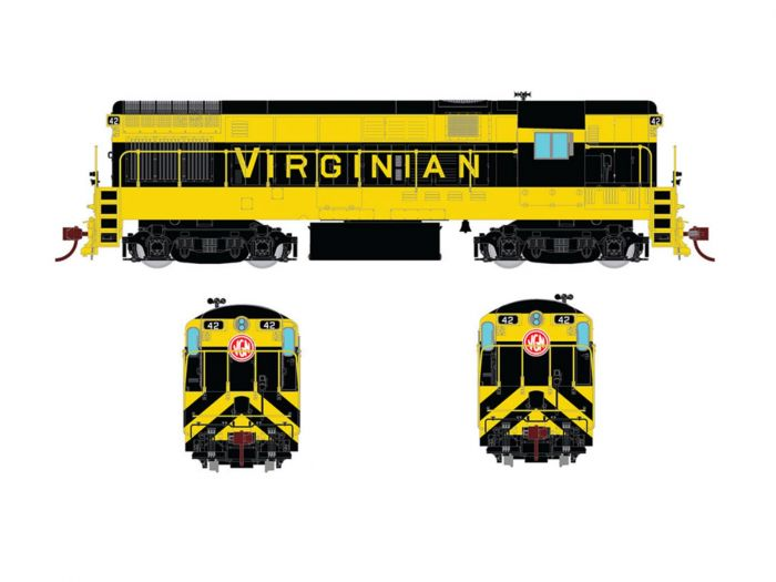 Rapido 044021 HO FM H16-44, Standard DC, Virginian As Delivered Scheme No.39