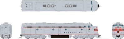 Rapido 28506 HO - EMD E8A (DC/DCC/Sound) Burlington (CB&Q): #9945A