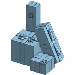 Atlas 4002082 HO - 3D Stack Of Presents (4/Pkg)