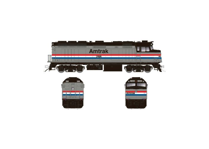 Rapido 083110 HO Scale EMD F40PH Ph2 with Ditch Lights, Standard DC, Amtrak Phase III No.323