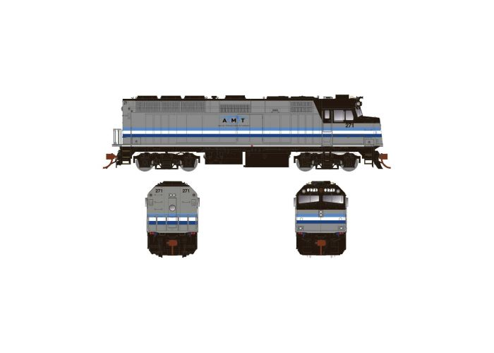 Rapido 083118 HO Scale EMD F40PH Ph2 with Ditch Lights, Standard DC, AMT Montreal Transit No.310