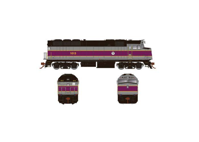Rapido 083124 HO Scale EMD F40PH Ph3, Standard DC, MBTA No.1014