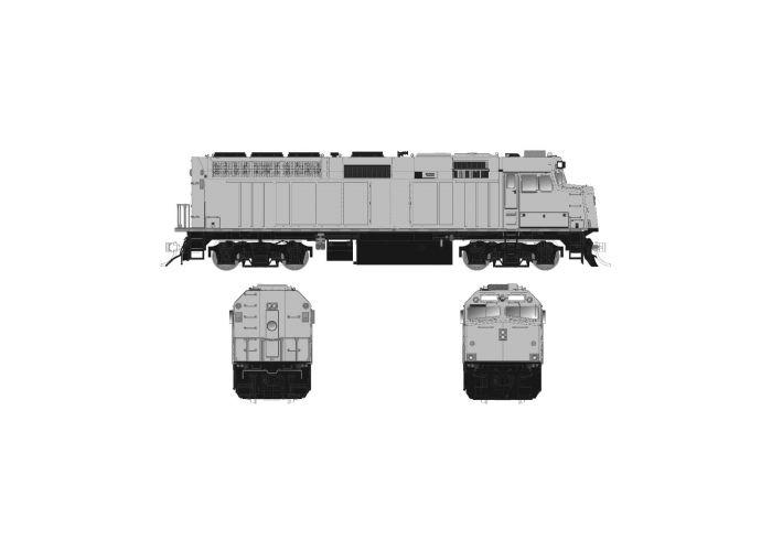 Rapido 083631 HO Scale EMD F40PH Ph3, ESU LokSound DCC, Undecorated