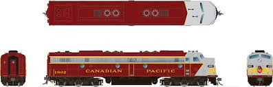 Rapido 28011 HO - EMD E8A (DC/Silent) Canadian Pacific - Early Maroon: #1802