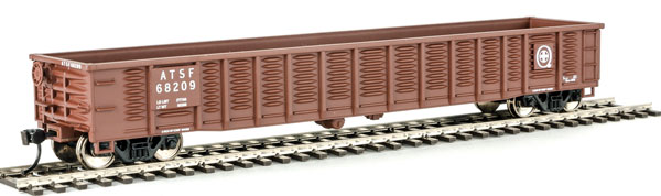 WalthersMainline HO 6063 53 Ft Corrugated-Side Gondola - Ready To Run - Santa Fe #68209