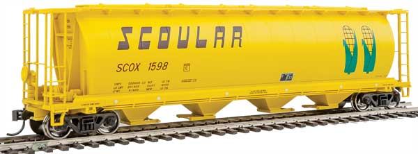 Walthers Mainline HO 7323 59 Ft Cylindrical Hopper - Scoular SCOX #1598