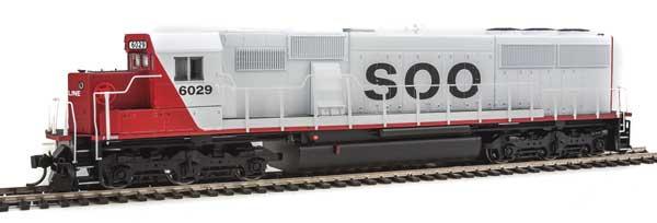 WalthersMainline 19759 HO EMD SD60 Spartan Cab -DCC & Sound -  Soo Line #6041