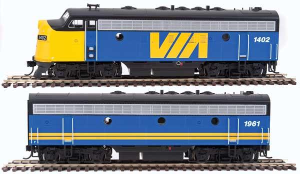 WalthersMainline 9931 HO EMD F7 A-B Set - DCC Ready VIA Rail Canada #1406