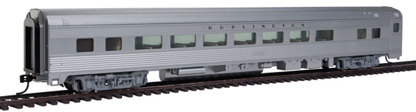 WalthersMainline 30003 HO 85' Budd Large-Window Coach - Chicago, Burlington & Quincy (silver)