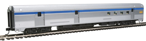 Walthers MainLine 30309 HO 85 Ft Budd Baggage-Railway Post Office - Ready To Run - Via Rail Canada (silver, blue, yellow)