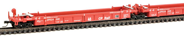 WalthersN N Scale 8101 Thrall 5-Unit Articulated 48 Ft Well Car - Ready to Run - Canadian Pacific #524326