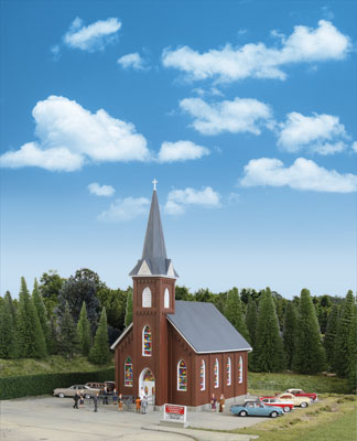 Walthers HO 3496 Cornerstone - Brick Church
