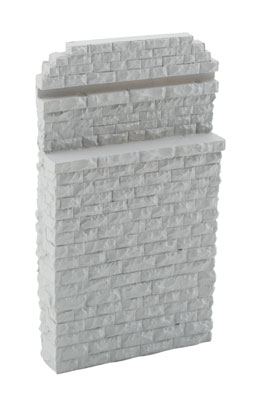 Walthers HO 4583 Cornerstone Single-Track Railroad Bridge Stone Abutment - Resin Casting