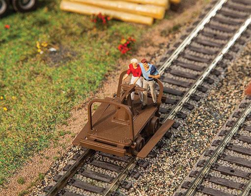 Walthers 4145 HO SceneMaster - Handcars - Kit of 2