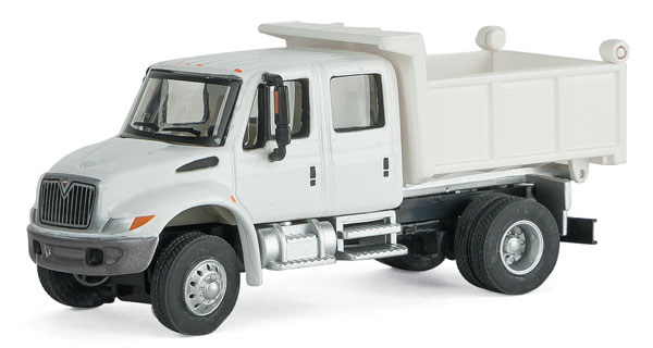Walthers 11634 HO SceneMaster - International(R) 4300 Crew Cab Dump Truck - Assembled - White