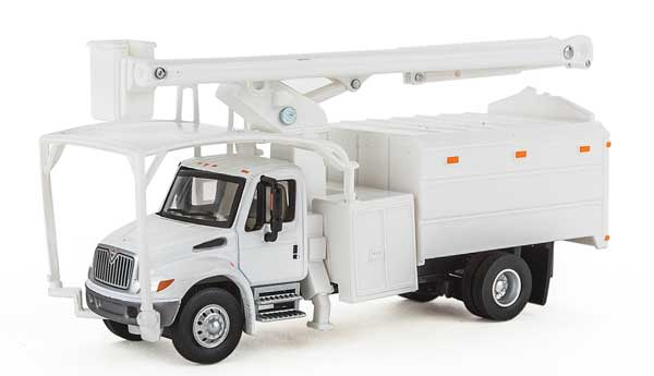 Walthers SceneMaster HO 11745 International 4300 2-Axle Truck with Tree Trimmer Body - White