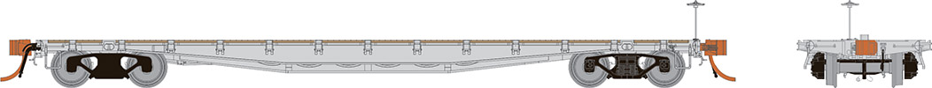 Rapido 138097 HO - F30A Body Style, Single 50Ft Flat Car: Undecorated