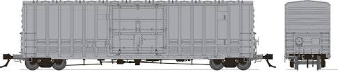 Rapido 137099-A HO Scale - B-100-40 Boxcar: Undecorated - Single Car