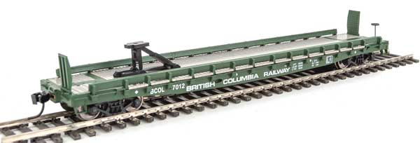 Walthers Mainline HO 5142 - 53 Ft GSC Piggyback Service Flatcar - British Columbia #7025