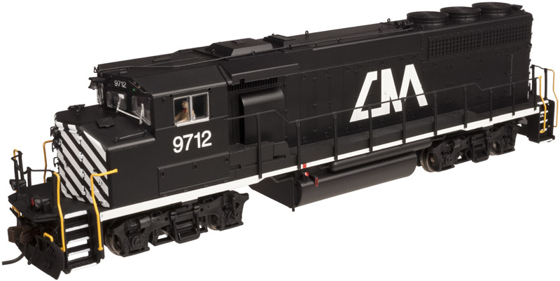 Atlas Model Railroad HO 10 001 419 Master Line Gold GP40-2(W) ESU DCC & Sound - Central Michigan #9712