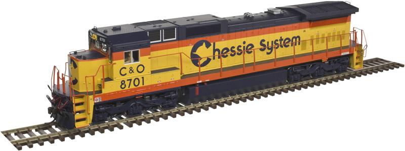 Atlas 10 002 262 HO Dash 8-40C Locomotive Silver DCC Ready  Chessie System C&O No.8701