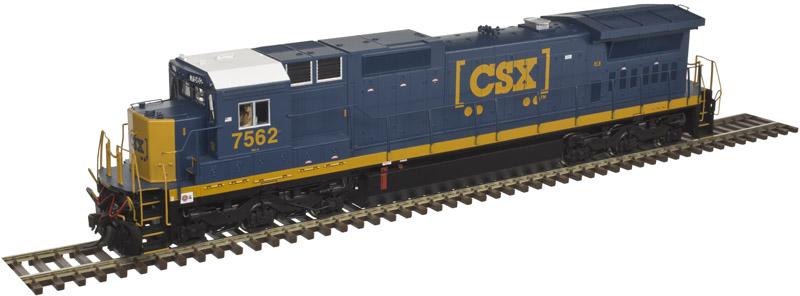 Atlas 10 002 266 HO Dash 8-40C Locomotive Silver - DCC Ready - CSX YN3b No7542