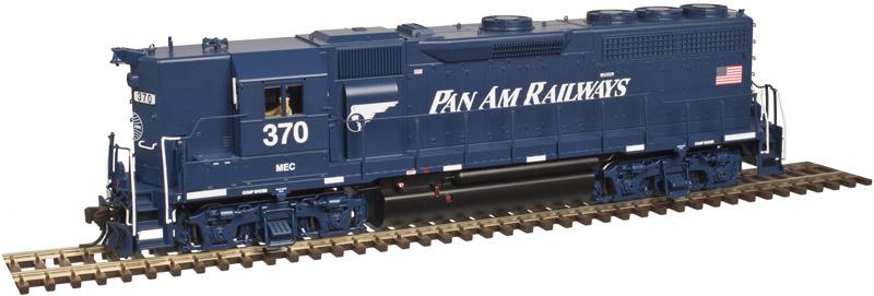 Atlas 10002415 HO Scale EMD GP40 Low Nose w/Sound & DCC - Master Gold -- Pan Am (Blue/White) #382